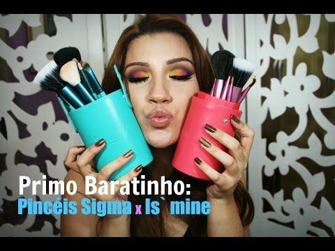 Versão baratinha dos pincéis Sigma - Primo Baratinho, por Bianca Andrade.