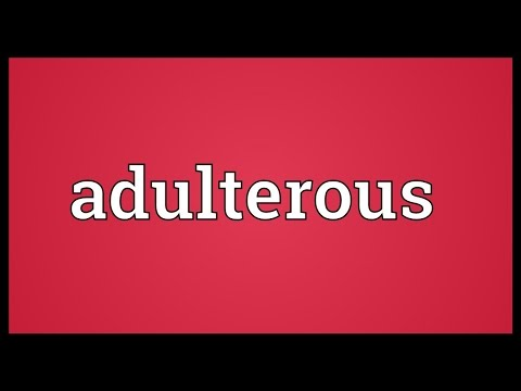 Header of adulterous