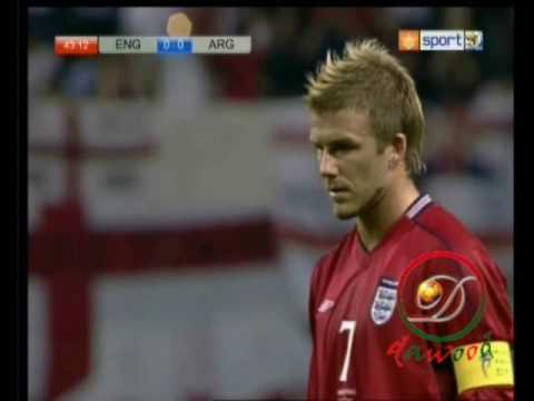 FIFA world cup 2002 - England vs Argntina ( David Beckham goal )
