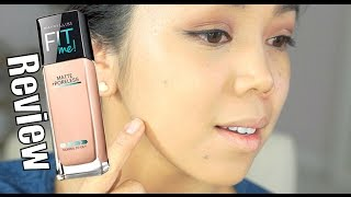 Maybelline Fit Me Matte Foundation Review - itsjudytime