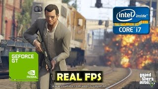 GTA V | Nvidia GeForce 9800 GT | Gameplay + Benchmark [REAL FPS]