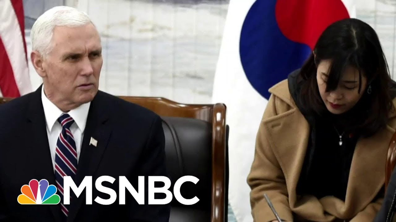 Vice President Mike Pence Signals A Chance In Policy Towards North Korea | Andrea Mitchell | MSNBC