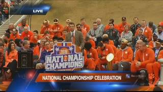 Clemson Championship Parade, Ceremony take place to honor CFP title winners