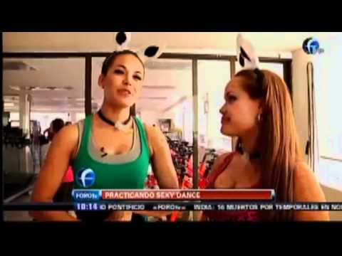 Gina Holguín Practicando Baile Sexi. Matutino Express FOROtv