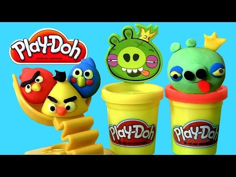 Play-doh Angry Birds Build 'n Smash Game With Bad Piggies New 2014 By Hasbro Toys video