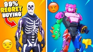 Top 10 Fortnite Skins FANS REGRET Purchasing!