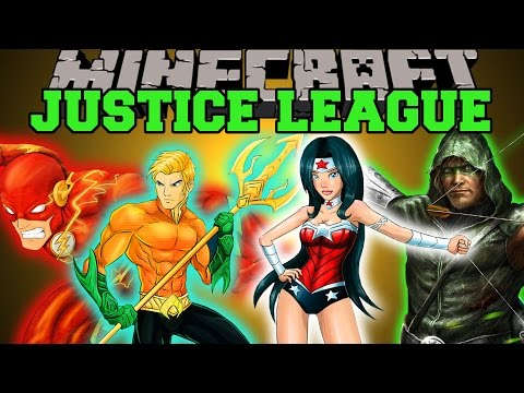 Minecraft: JUSTICE LEAGUE (BECOME POWERFUL SUPERHEROES!) Mod Showcase