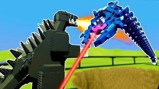Lego TITAN BATTLES and DESTROYS GODZILLA IN BRICKSVILLE! - Brick Rigs Workshop Creations Gameplay