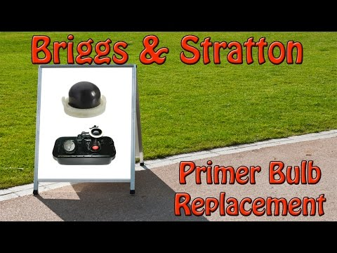 Briggs And Stratton Lawnmower Primer Bulb Replacement How To