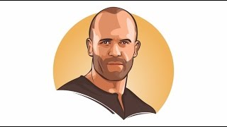 HOW TO DRAW VECTOR WITH CORELDRAW X7 | JASON STATHAM | real spead