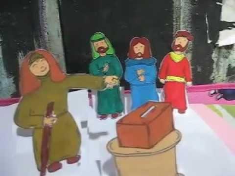 Bahan Cerita Bergambar : Persembahan Janda Miskin (Markus 12:41-44)