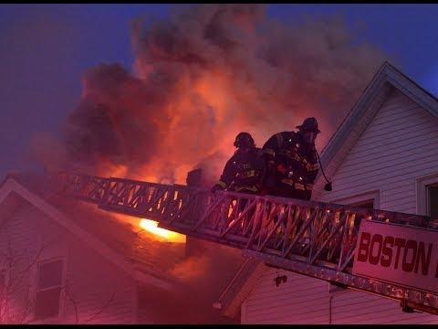 Firefighters battle 8-alarm fire in East Boston