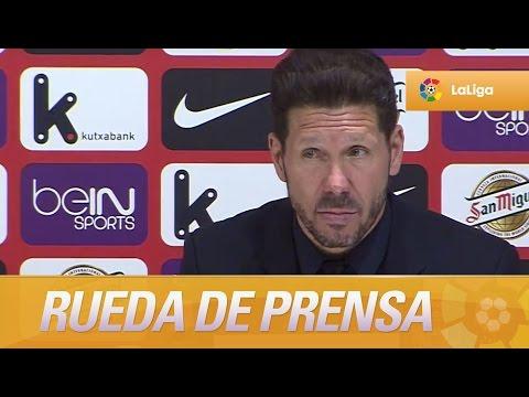 Rueda de prensa de Simeone tras el Athletic Club (0-1) Atlético de Madrid