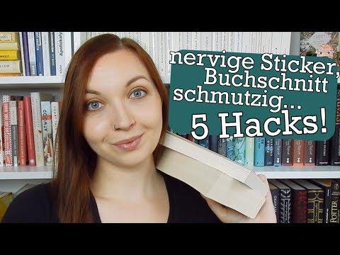 5 Hacks für gebrauchte Bücher   Bestseller-Sticker entfernen und Co.