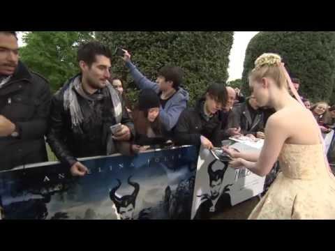 Maleficent: England World Premiere Celebrity Arrivals - Angelina Jolie, Brad Pitt, Elle Fanning