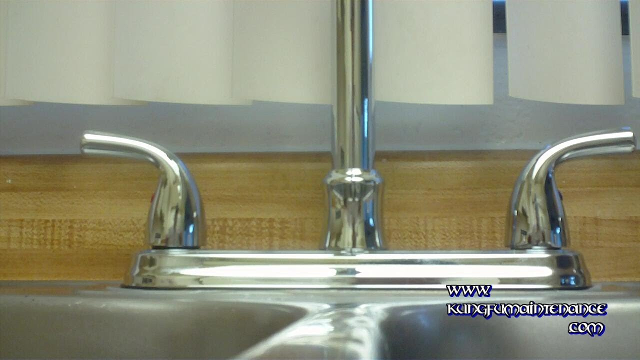 How To Replace A Water Leaking Kitchen Faucet Using