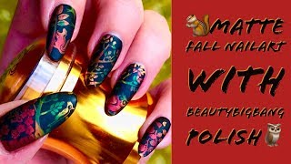 🐿️Matte FALL Nailart with BEAUTYBIGBANG Polish🦉 / Review - How To