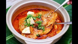 fish head curry recipe | Fish Curry with Tamarind gravy | Meen puli kuzhambu in Tamil