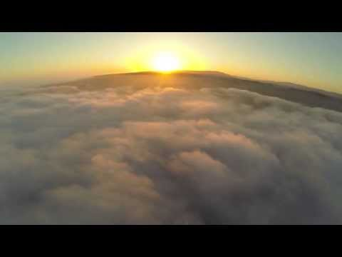 Flying FPV with my DJI phantom quadcopter above the clouds