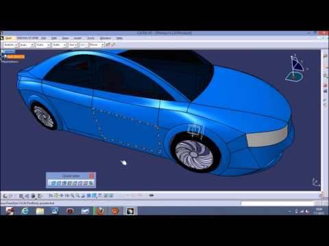 CATİA V5 Car Surface Modelling With Blueprints Tutorial