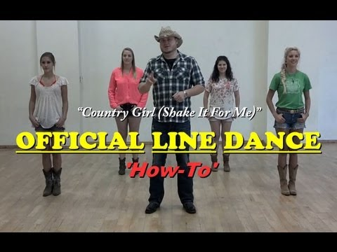 Official Country Girl Line Dance how-to video