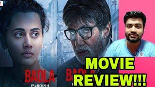 BADLA MOVIE REVIEW AMITABH BACHCHAN TAPSEE PANNU SRK SUJOY GHOSH