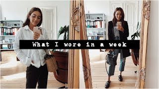 WHAT I WORE IN A WEEK September | madametamtam