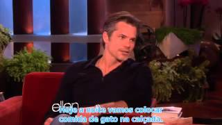 Timothy Olyphant and His Family,Ellen show - legendado em português 2