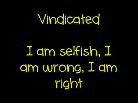Dashboard Confessional Vindicated Lyrics video