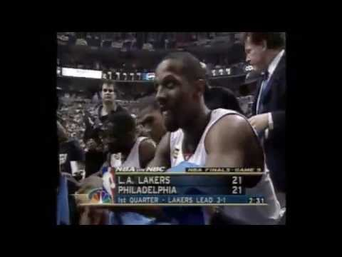 NBA finals 2001 LAL - 76-ers game 5 (русский комментарий)