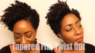 Natural Hair| Tapered Flat Twist Out |BEAUTYCUTRIGHT