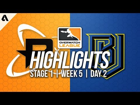 Boston Uprising vs Philadelphia Fusion ft Striker | Overwatch League Highlights OWL Week 5 Day 2