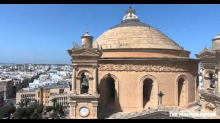 Mosta Church Malta (4K) Video Drone 2016