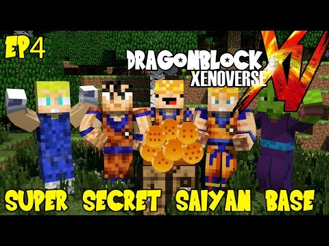 Dragon Block Xenoverse: Super Secret Saiyan Base (Dragon Ball Z Minecraft EP 4)