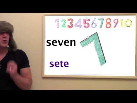 Learn Portuguese - Lesson 1 - Count from 1 - 10 in Portuguese with Jingle Jeff & Professor Giggle