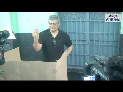 Ajith Casts Vote   Tamil Nadu Election 2016   Tamil The Hindu