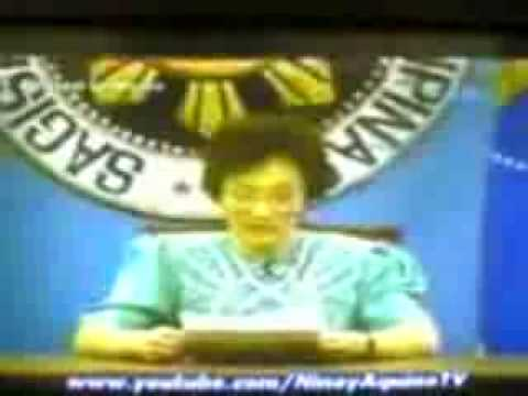 President Corazon Cory Aquino's Speech on the Coup attempt on her