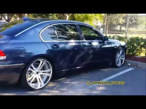 Bmw 745 Li in 22 inch staggered Savini in high def