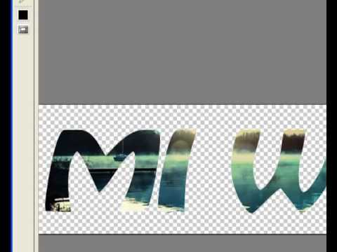 Photoshop crear logo texto con imagen incrustada.mp4