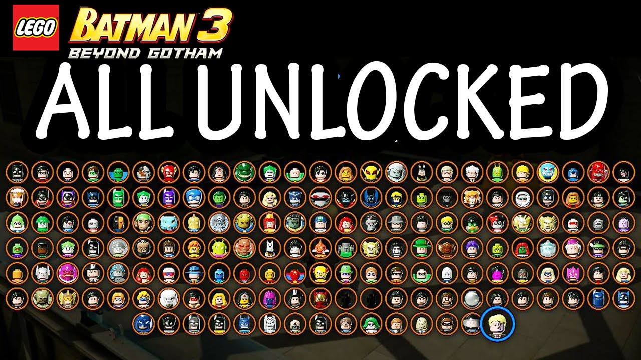Lego Batman 3 Character List Lego Batman 3 Beyond Gotham