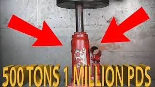 Experiment Youtubes Strongest Hydraulic Press | The Crusher