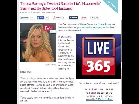 Radio Slade Exposes the truth about OC Housewife Tamra Barney