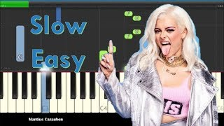 Download Lagu Bebe Rexha & Florida Georgia Line - Meant To Be Slow Easy Piano Tutorial Gratis STAFABAND