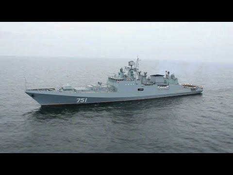 Новый фрегат, оснащенный по последнему слову, готовится к переходу с Балтики в Черное море.