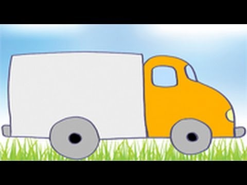 Dibujos de transportes para niños. Cómo dibujar un camión