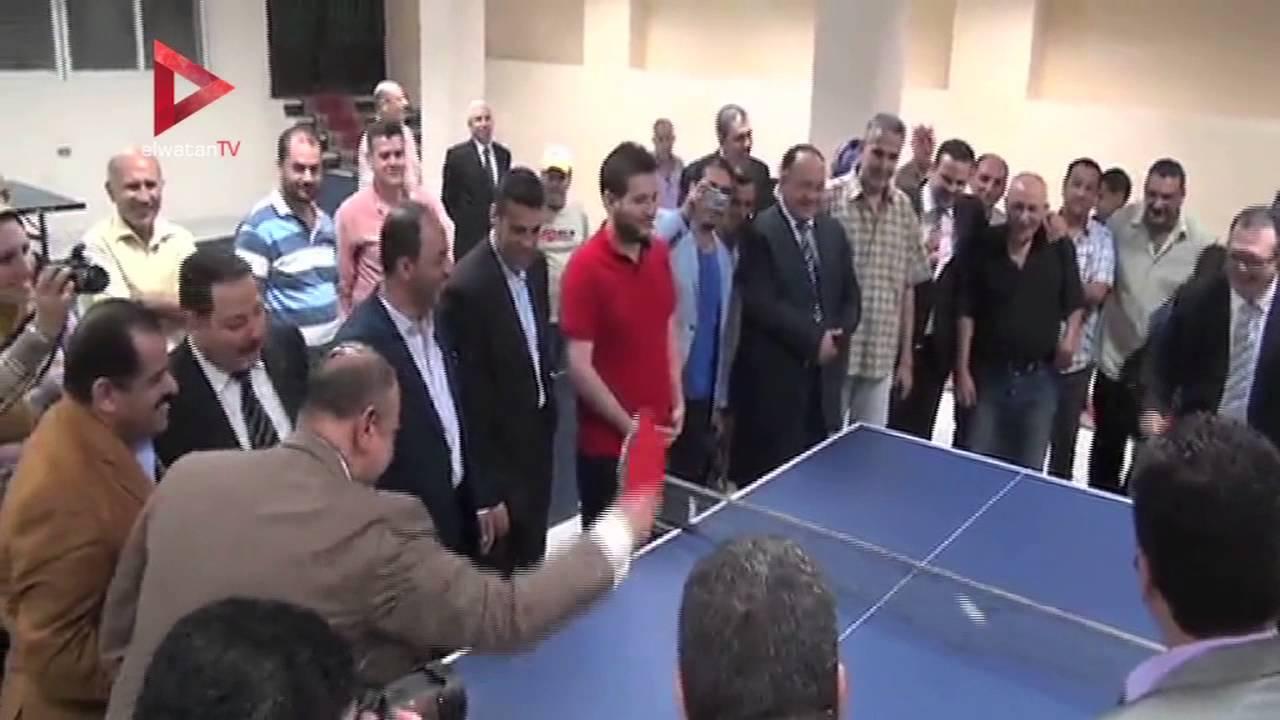 """رئيس اتحاد تنس الطاولة يزور المنصورة لتوزيع """"ترابيزات"""" على الأندية"""