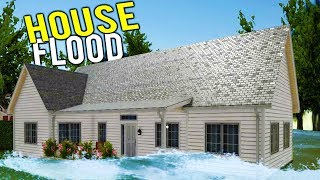FLIPPING A FLOODED HOUSE FOR SERIOUS CASH? The 100k House Project! - House Flipper Beta Gameplay