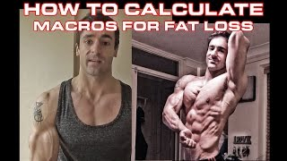 How to calculate macros for fat loss or cutting