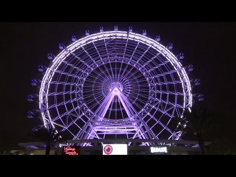 Orlando Eye First Public Lighting w/ Ceremony, Madame Tussauds Figures, Sea Life Shark, I-Drive 360