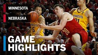 Highlights: Minnesota at Nebraska | Big Ten Basketball